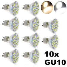 10x 3/4/5W GU10 3528 SMD LED Warm White / White High Power Spot Light Bulb Lamp