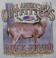 ALL AMERICAN OUTFITTERS  BUCK FEVER HUNTING DEER HUNTER SHIRT #432