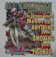 ALL AMERICAN OUTFITTERS SURGEON GENERAL NEVER... DIRT BIKE RACING SHIRT #366