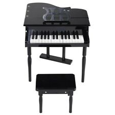 Hotest 30 keys Childs Toy Grand Baby Piano with Kids Pinao Bench Wood Black/Pink