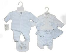 Baby boys 8 peice gift set trousers top jacket vest nb 0-3-6 months gift new