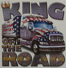 ALL AMERICAN OUTFITTERS KING OF THE ROAD 18 WHEELER SEMI TRUCKER SHIRT #300