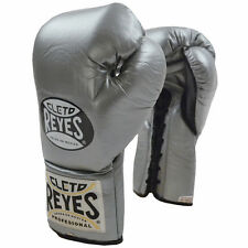 Cleto Reyes Official Lace Up Competition Boxing Gloves - Titanium