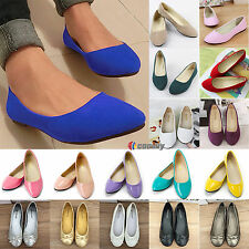 Womens Suede Boat Shoes Casual Slip On Flats Pumps Loafers Ballet Single Shoes