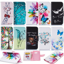 PU Patterned Phone Leather Case for Samsung LG Card Holder Wallet Stand Cover