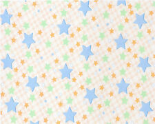 Fun Stars Background Birthday ~ Sheet Cake Topper ~ Edible ~ D4384