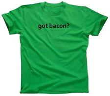 GOT BACON? Funny Pig Pork Bacon Lover Humor Tee - T-Shirt - NEW - Green