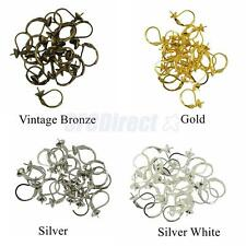 20pcs French Hooks With Blank Cup Leverback Earring Findings Silver/Gold Plated