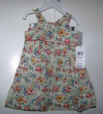 NWTS RALPH LAUREN BABY GIRL'S FLORAL DRESS & PANTY SET SIZE 6 MONTHS SUMMER