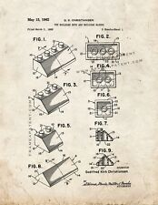 Lego Toy Building Sets And Building Blocks Patent Print Old Look