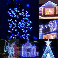 Solar Power 17M 100 Led Mix-Color White LED String Fairy Light Xmas Garden Party