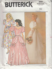Wedding Dress Bridal Gown Butterick 5831 Uncut Dropped Waist Train Back Bow