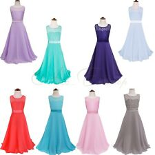 Flower Girl Pageant Wedding Party Bridesmaid Princess Dress Ball Gown Lace Dress