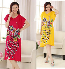 Hot Sale Chinese Style Women's Cotton Robe Gown Kimono Bathrobe Sleepwear