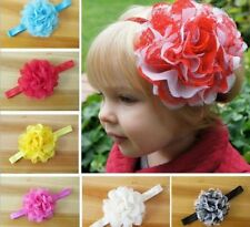 15PCS/lot Grenadine Fabric Flower Baby/Girl's Headband Headwear Hair Accessory