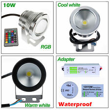 10W LED Flood Light Underwater Spot Light For Garden Pool Pond Lamp 12V +Adapter