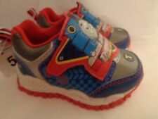 NWT Toddler Boys' Thomas the Tank Engine Light Up Shoes Sneakers Blue Red Sz 5