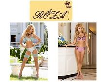 Roza Lingerie European Caryca Luxury Soft Cup Bra In Cream & Mint Green Or Pink