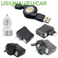 wall car charger Retractable USB A Male to Mini USB B 5Pin Charging data Cable