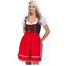 5colors 3pcs German Dirndl Dress Oktoberfest Costume size 34 to 44 FREE SHIPPING