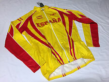 Biemme Cycling Men's Jersey long, Gr.XXL,color yellow/red,National jersey Spain