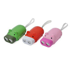 Cute Mini Pig with 2 LED Light Hand Pressing Dynamo Keychain LED Flashlight
