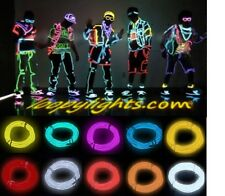 10 METRES EL NEON GLOW WIRE LIGHT +BATTERY PACK * FESTIVAL * PARTY * FANCY DRESS