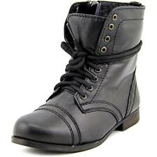 Steve Madden J Troopa Youth  Round Toe Leather Black Boot