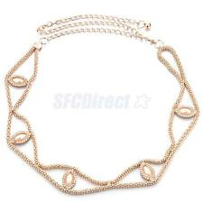 Fashion Women Full Metallic Bling Chain Link Hip Metal Waist Belt Waistband