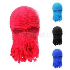Men's Cool Funny Tentacle Octopus Knit Beanie Hats Wind Ski Mask Cosplay Caps