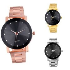 Women Men Couples Stainless Steel Block Band Dial Analog Quartz Wrist Watch New