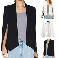 Fashion Womens Slim Casual Cardigan Jacket Blazer Suit Cape-style Coat Outwear