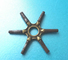 ANTIQUE 6 KEY METAL AND BRASS WATCH WINDER TOOL.