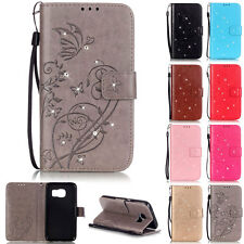 Bling Butterfly Wallet Leather Flip Tpu Case Cover Stand Card For Samsung Galaxy