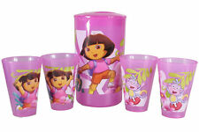 **DISNEY KIDS 5 PCE JUG + CUPS SET-Toy Story,Cars,Princesses,Dora,Tinkerbell**