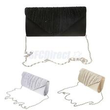 Women Ladies Envelopes Clutch Handbag Silk Evening Purse Shoulder Chain Bag