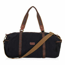 Men Travel Weekend Duffle Bag Women Canvas Sport Outdoor Luggage Barrel Holdall