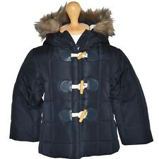 Baby Girls Navy Hooded Puffer Jacket