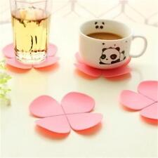 3D Flower Petal Shape Cup Coaster Tea Coffee Cup Mat Table Brand New =