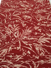 F05z50 Vintage Japanese Kimono Silk  FABRIC Dark red Flowers 57.5""