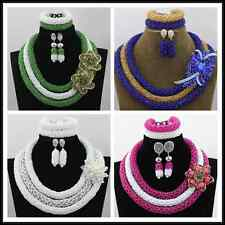 Nigerian Green Fashion African Jewelry Sets White Costume Lace African Beads Set