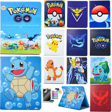 Pokemon Pikachu Pattern Case for iPad Air/Air2/234 Tablet PU Leather Stand Cover