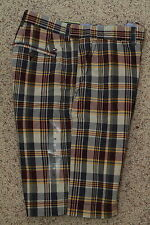 Tommy Hilfiger Mens Plaid Check Shorts New NWT