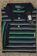 Polo RALPH LAUREN Short Sleeve Classic Fit Polo Stripe Interlock Shirt New NWT