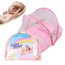 New Portable Baby Bed Crib Folding Mosquito Net Infant Cushion Mattress Pillow