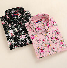 Tops Blouses Collar New Blouse Floral Blouses Turn Down Long Sleeve Shirt