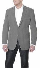 Club Room Classic Fit Gray Textured Two Button Blazer Sportcoat