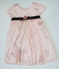 baby infant flower girl dress pink lovely wedding christening sz XL, 2, 6