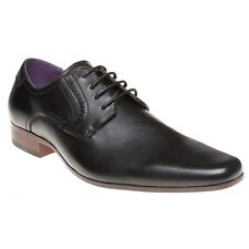New Mens SOLETRADER Black Barnaby Leather Shoes Lace Up