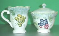 Lenox TUSCAN VINE Sugar Bowl & Creamer Hand Painted Scalloped Edge New Boxed